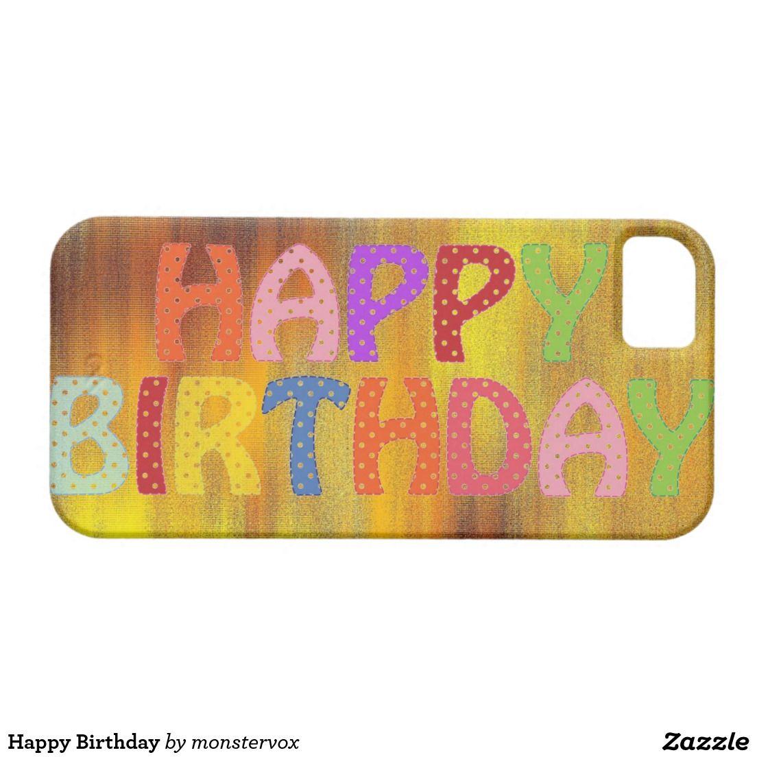 Happy Birthday iPhone SE/5/5s Case #HappyBirthday #Birthday #Party #Celebration #Art #Fashion #Mobile #Phone #Case #Cover #iPhone