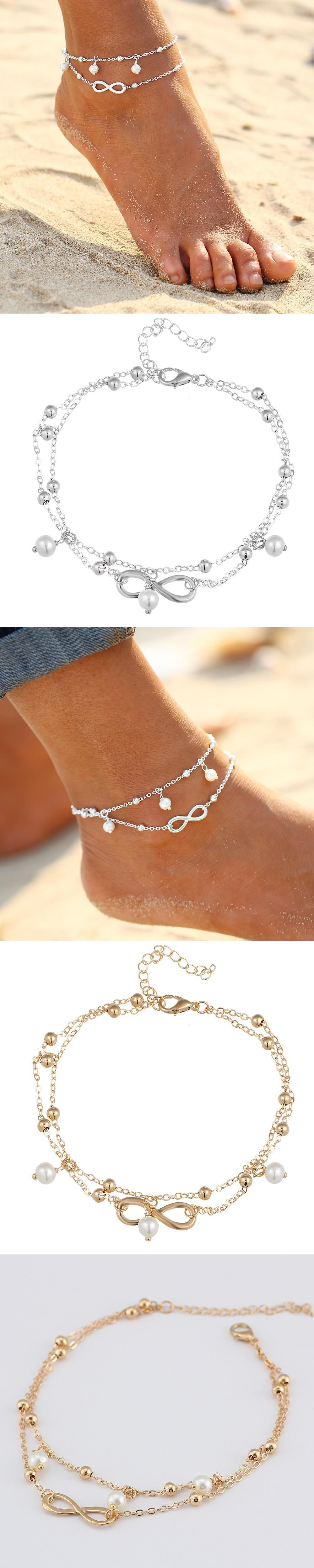 for p summer womens anklet snail beaded beach jewelry beautiful dollar sand bracelet woman fashion women ankle sea handmade bracelets