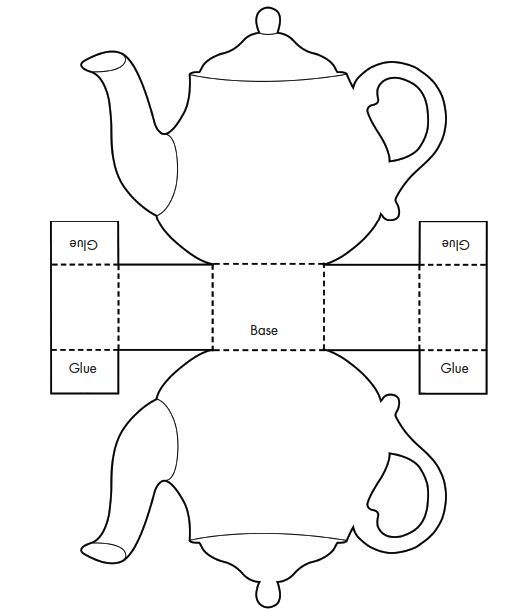 Printable Teacup Template Tea Pot Candy Box Templates  Invitation