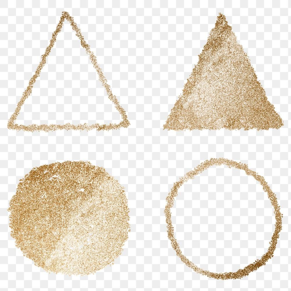 Gold Png Circle And Triangle Icon Set Free Image By Rawpixel Com Adj Free Icon Set Icon Set Glitter Paint