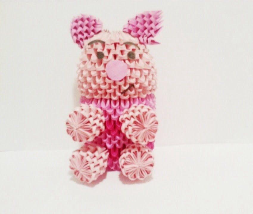 3D Origami Pig Tutorial (HD) | Origami pig, 3d origami ...