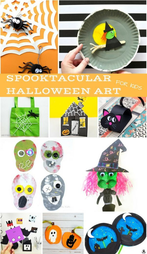 Kids will enjoy doing any one of these 15 spooktacular halloween art - halloween kids craft ideas