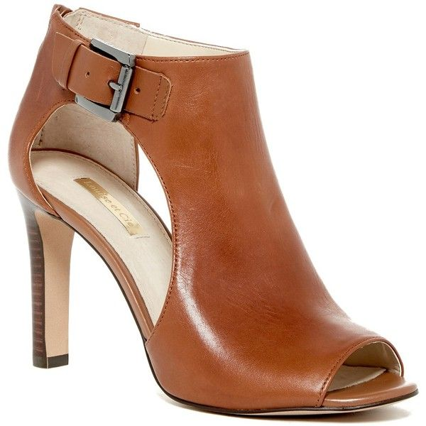 5e9095549ff1 Louise et Cie Olivia Cutout Leather Bootie ( 80) ❤ liked on Polyvore  featuring shoes. Peep Toe ...