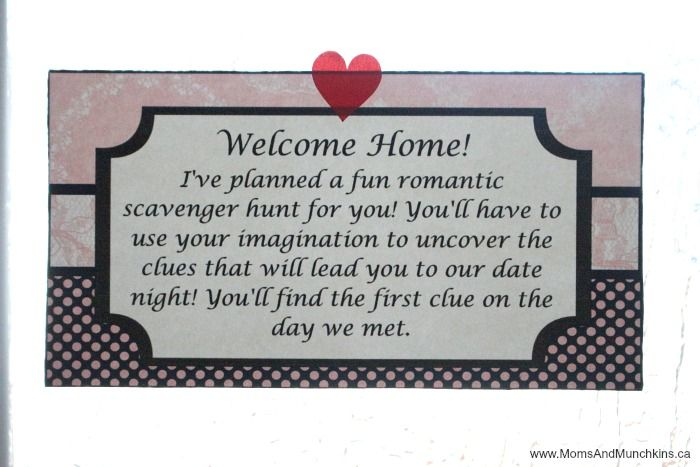Romantic Scavenger Hunt Romantic Scavenger Hunt