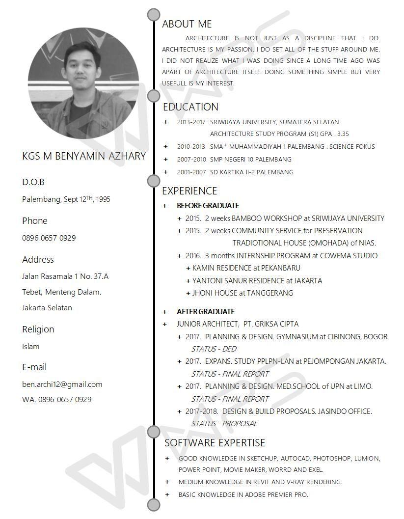 CV, Curiculum Vitae, Resume, Universitas Sriwijaya, Griksa Cipta ...