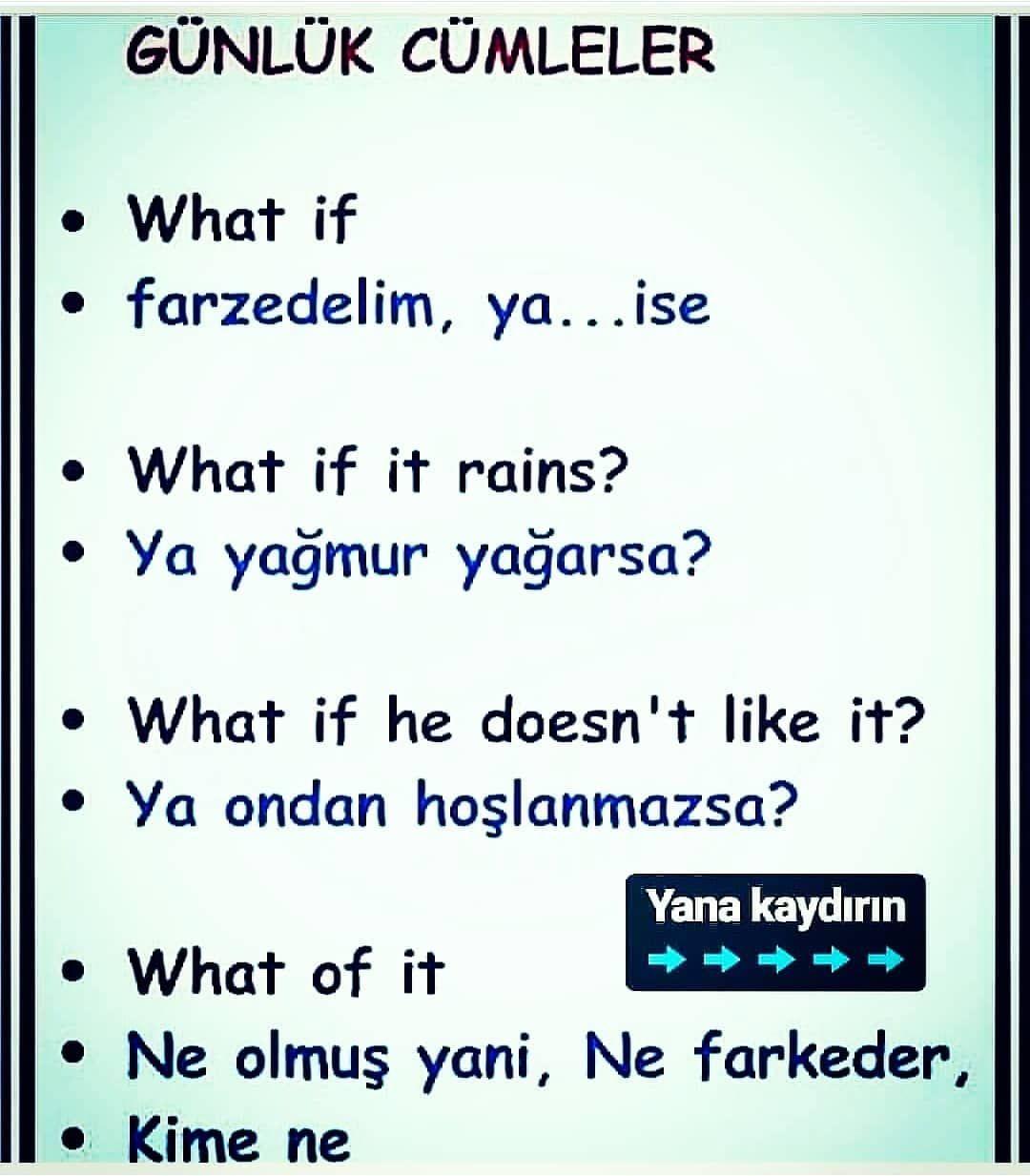Pin By Azra Shaheen On Ingilizce In 2020 Learn Turkish Language Learn Turkish Learn English