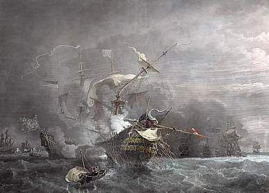Combat Du Cap Lézard, 21 Octobre 1707