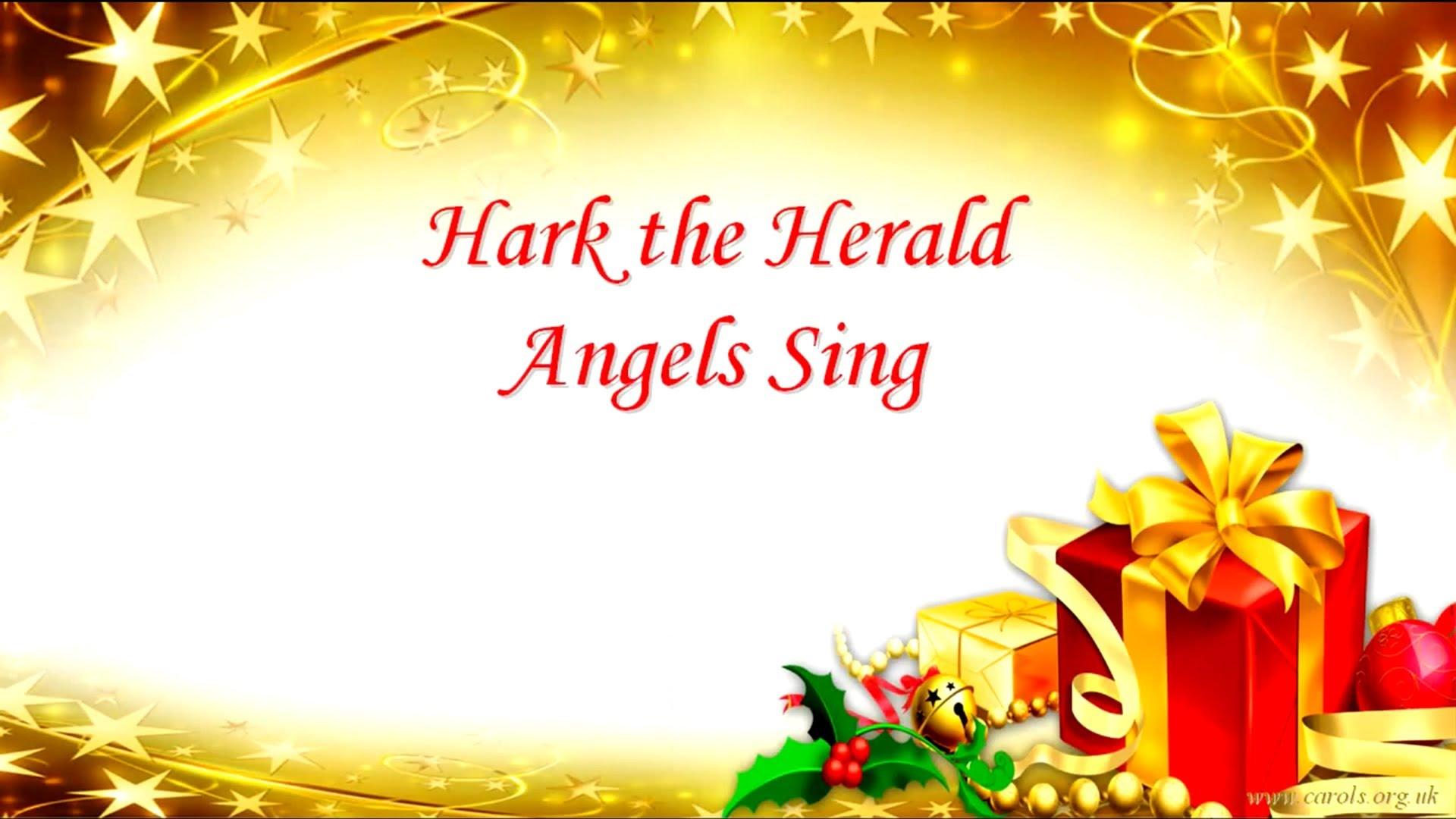 HARK THE HERALD ANGELS SING Lyrics | ALL CHRISTMAS MUSIC | Pinterest ...