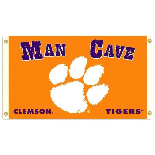 Clemson Tigers Man Cave Premium 3 X 5 Flag W Grommets
