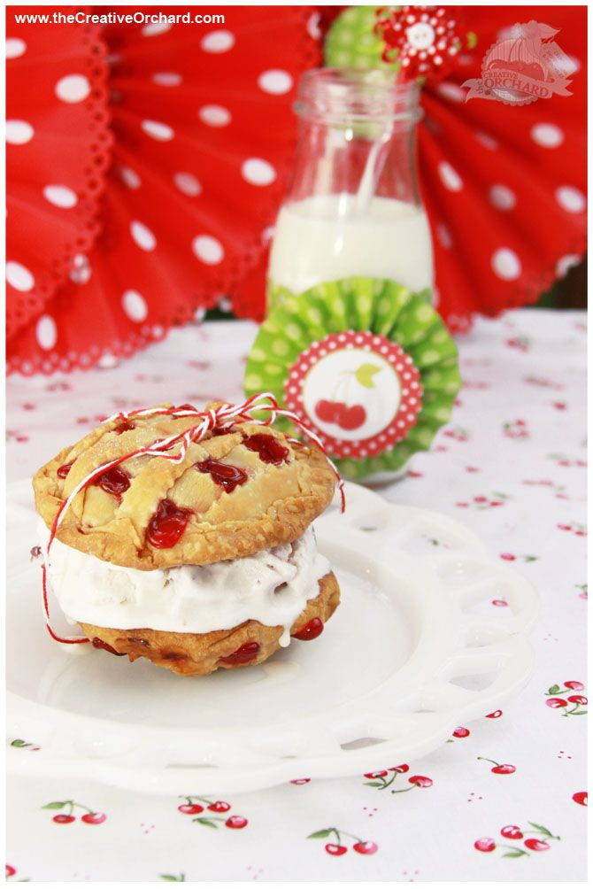 the Creative Orchard: SWEET SPOTLIGHT: Cherry Pies 'n Cream Sandwich