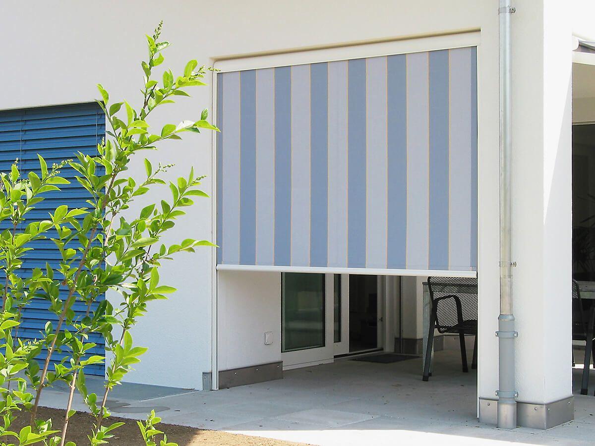 Coberti toldo vertical en porche de vivienda toldos for Toldos para terrazas