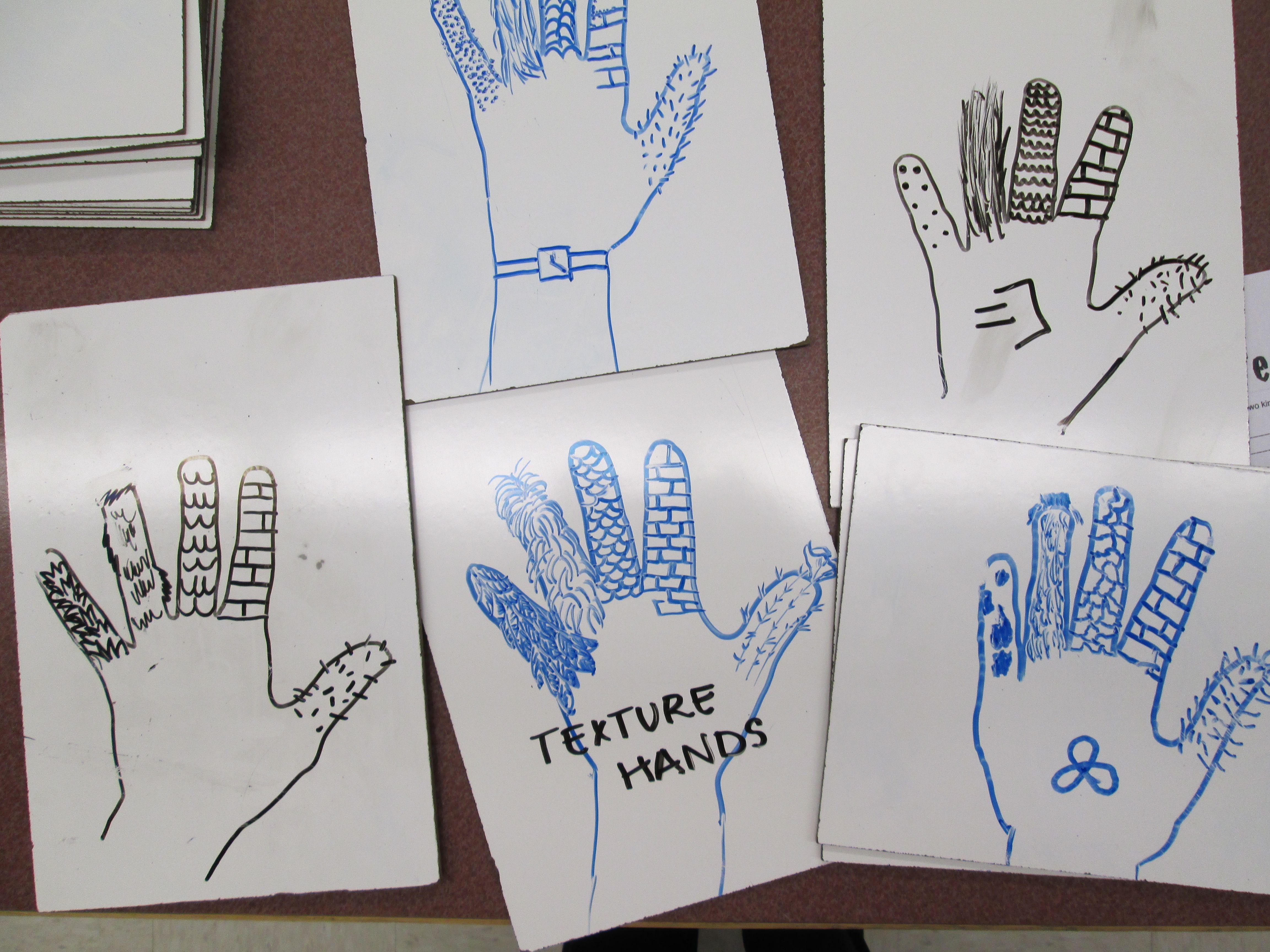 Texture Hands Activity On Eraser Boards