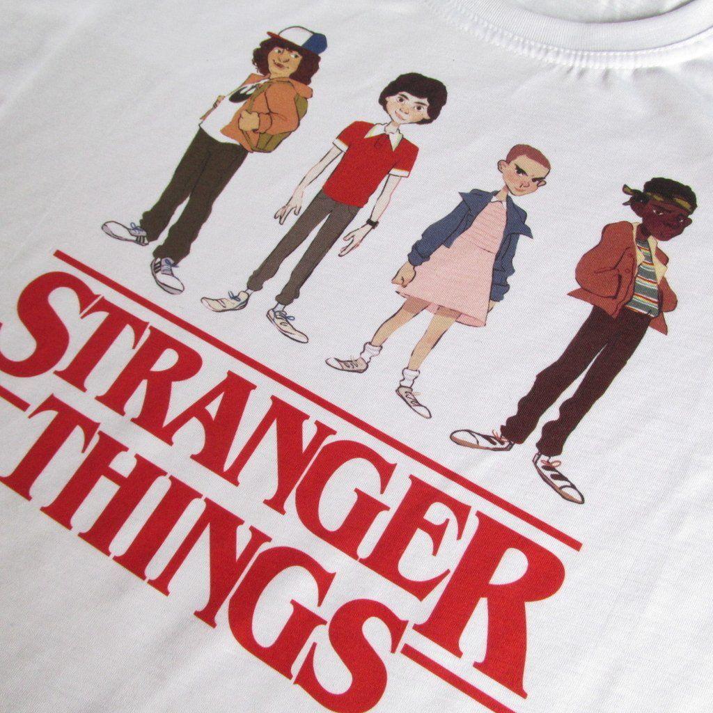 24166e25e4f4 camiseta stranger things serie netflix Eleven camisa masculina ...