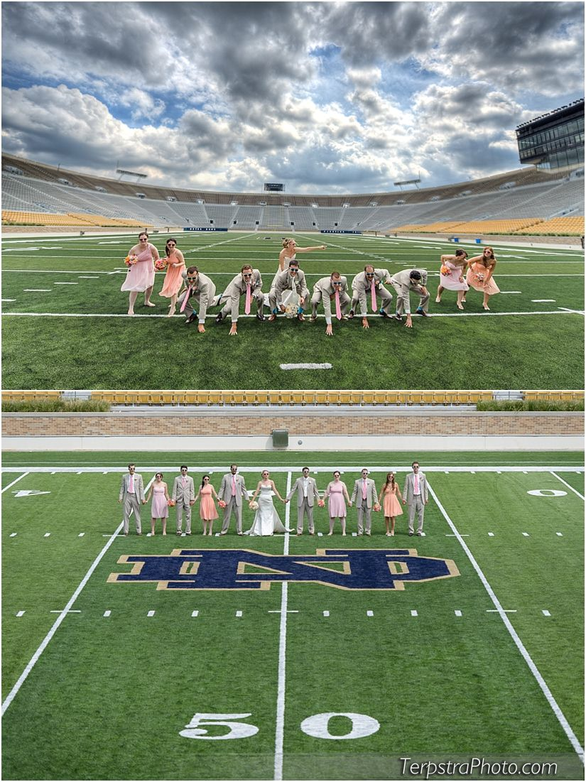 Notre Dame Football Stadium Wedding Photographer By Www