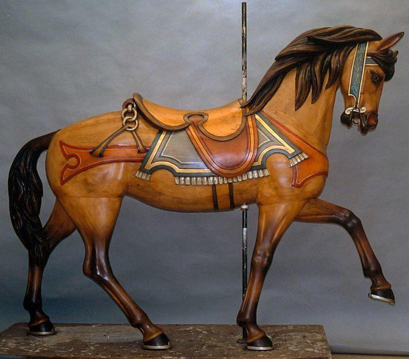 cheval de man ge bois peint vers 1905 au temps ancien avant 1940 pinterest manege. Black Bedroom Furniture Sets. Home Design Ideas