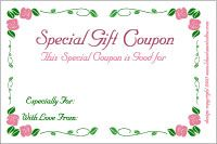 gift coupons to print and personalize for any special celebration