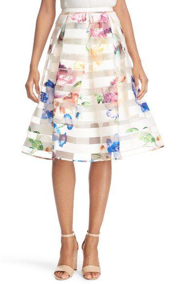 7d788db4a736c TED BAKER  Hoona  Burnout Stripe Pleated Skirt.  tedbaker  cloth ...