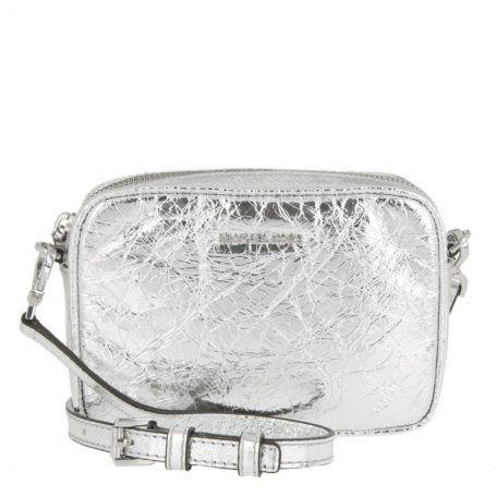 Michael Kors Tasche – Pouches SM Camera Crossbody Leather Silver – in silber – Umhängetasche für Damen