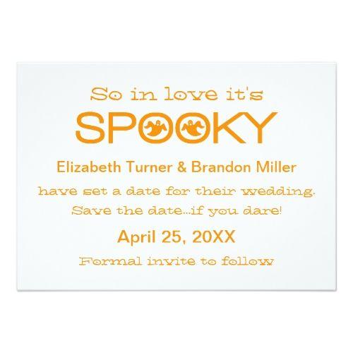 Spooky Typography Halloween Save The Date Halloween Wedding Ideas