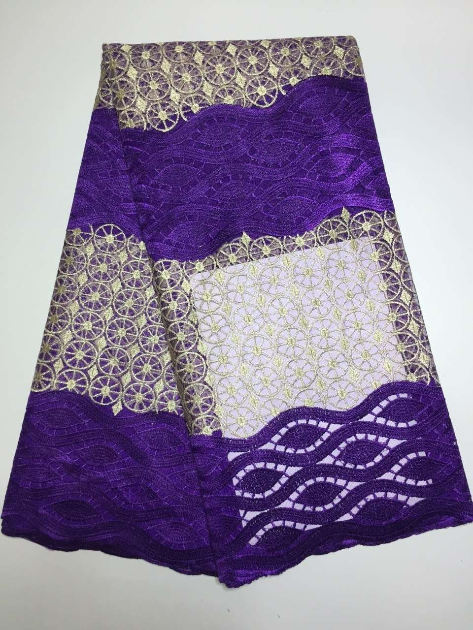 Wedding decorations nigeria  Y  new design french lace purple bridal embroidered tulle lace