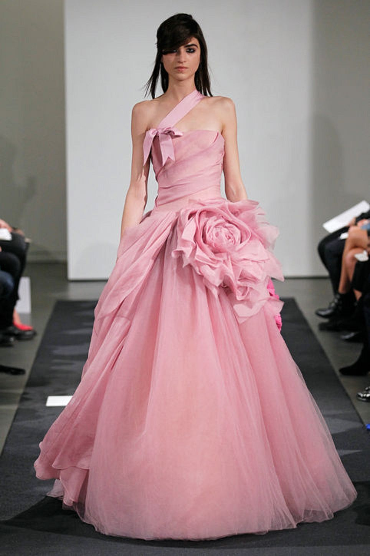 Look - Wedding pink dress vera wang video
