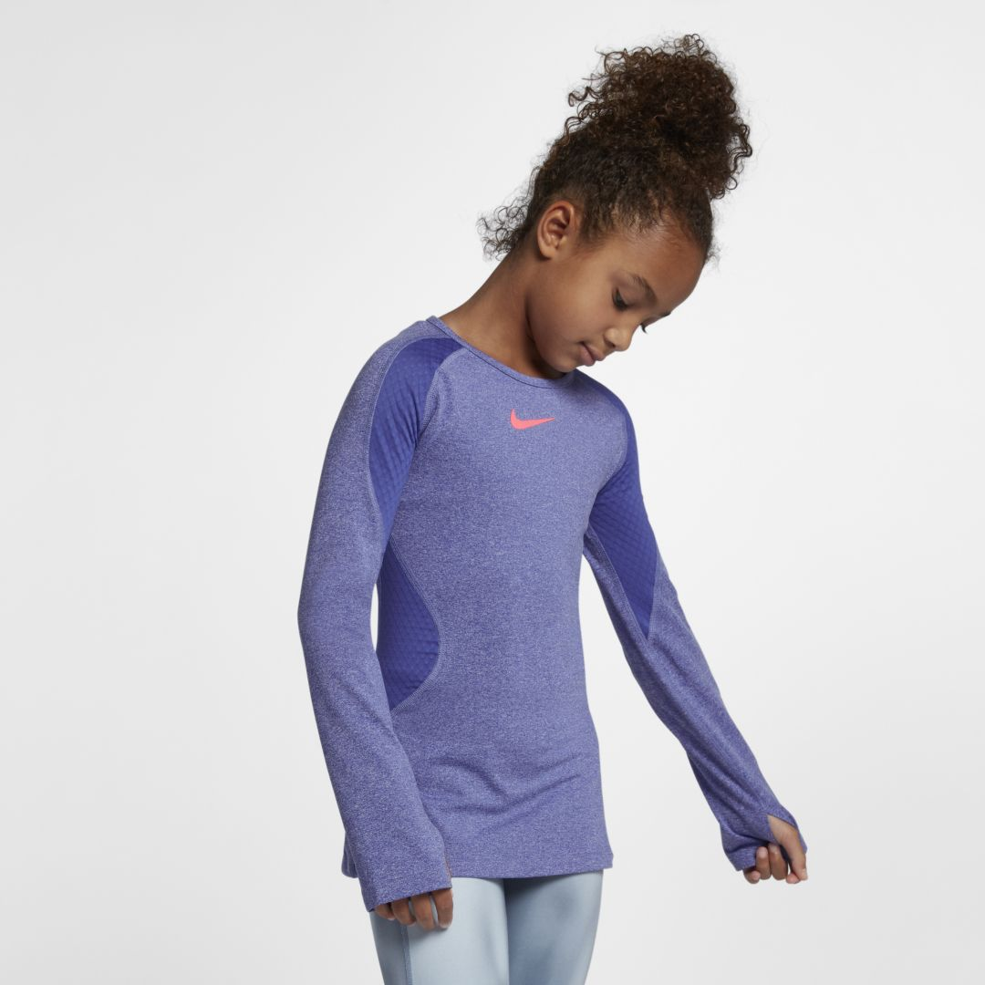 2646ff9f45 Nike Pro Warm Big Kids' (Girls') Long Sleeve Training Top Size M ...