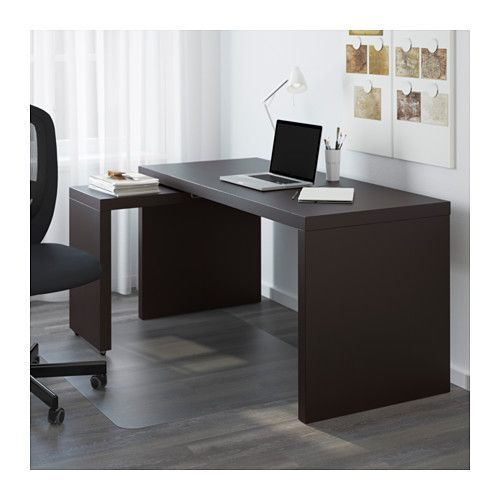 Malm Desk With Pull Out Panel Black Brown 59 1 2x25 5 8 Ikea Ikea Malm Desk White Paneling Ikea Malm
