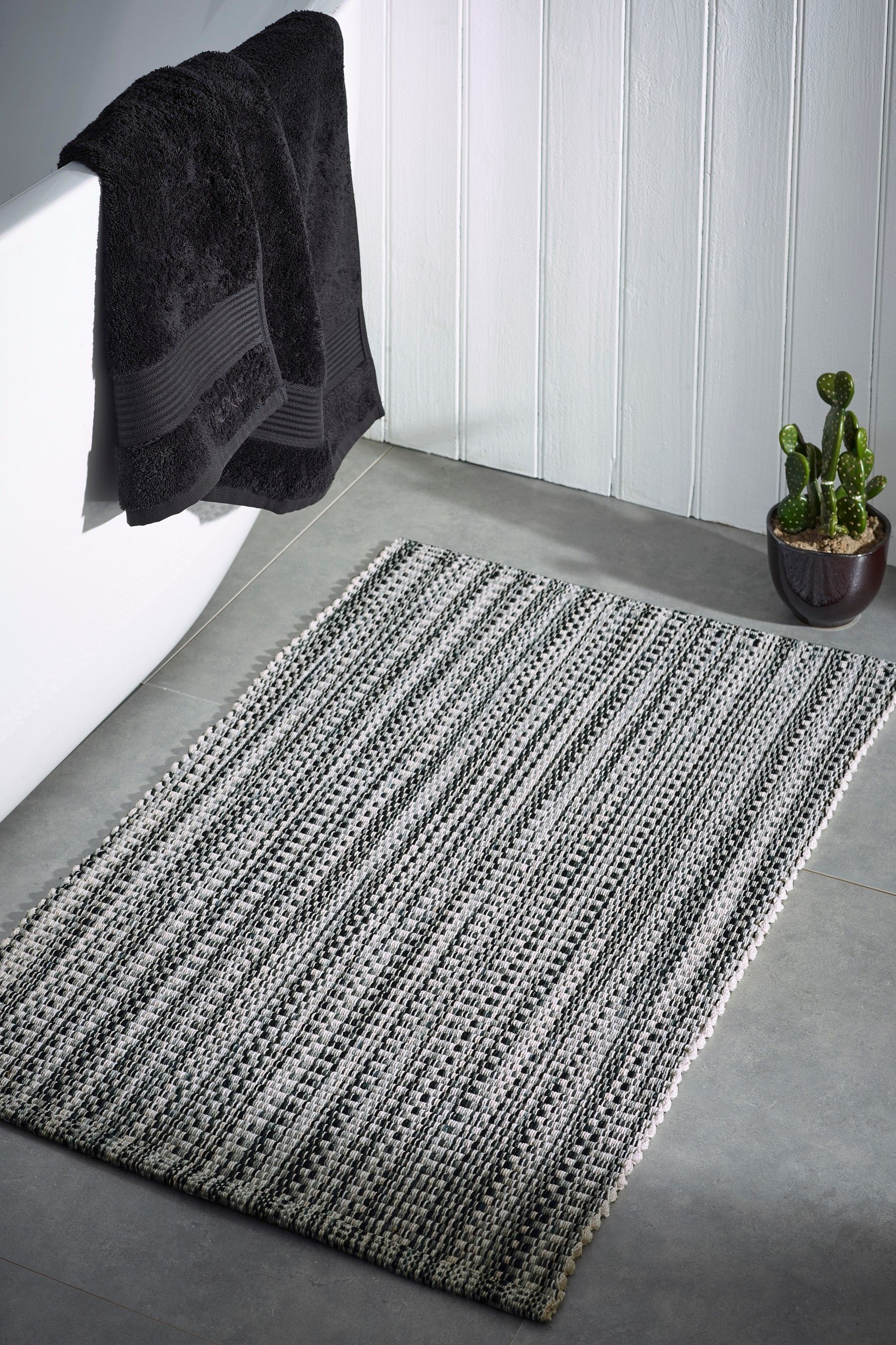 Next Stripe Bath Mat Grey Bath Mat Grey Bath Mat Bath