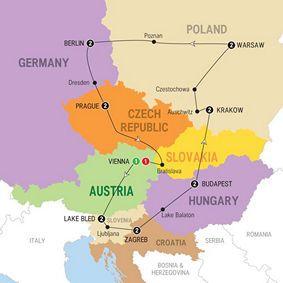 940 Europe Tours Europe Tours Eastern Europe Map Eastern Europe Travel