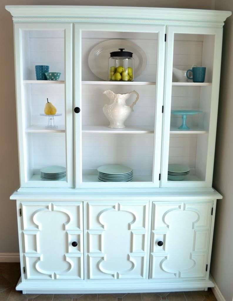 Refinished hutch. Antique black is what we are looking at for our ...