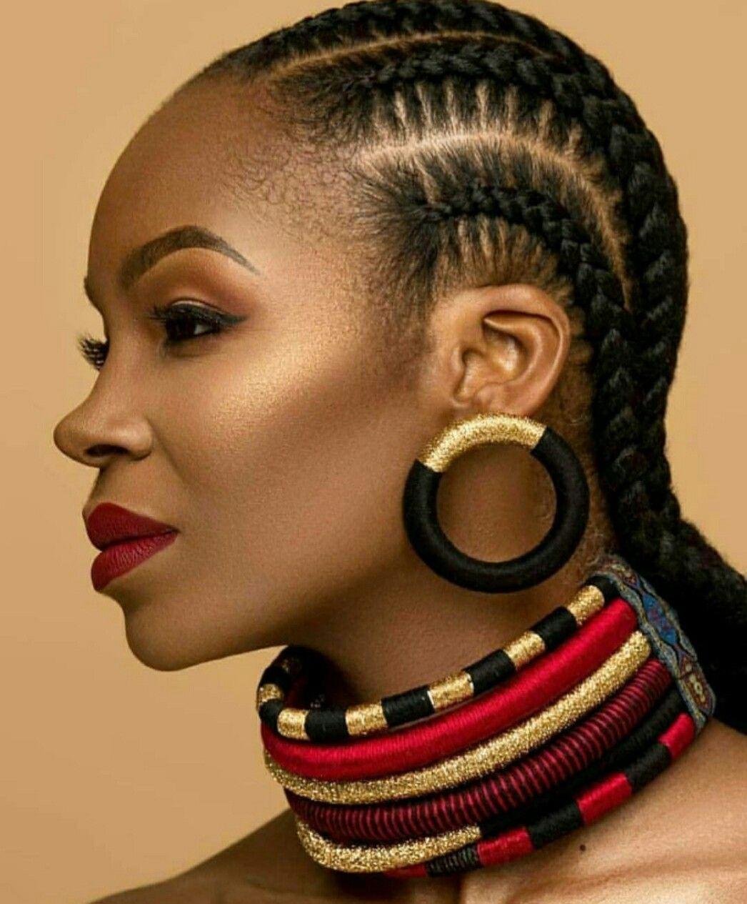 Epingle Par Murielle Kouassi Allah Sur Les Tresses Natte Cheveux Coiffures Naturelles Cheveux Noirs Model De Coiffure Africaine