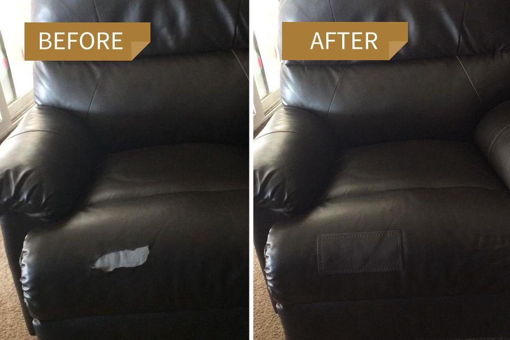 Leather Repair Patch Large Plain 20cm X 10cm Leather Repair
