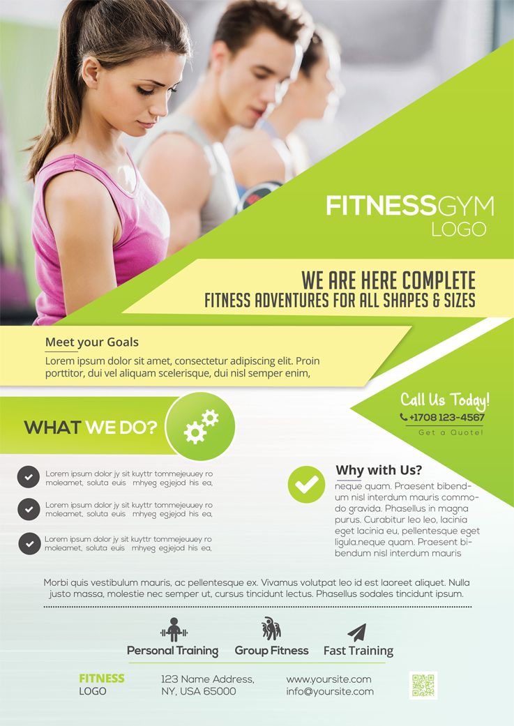 fitness services is a free psd flyer template to download this