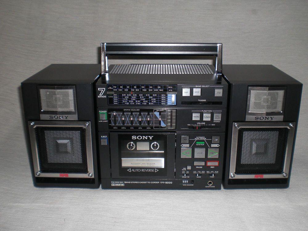 7 Band Stereo Cassette-Corder Sony CFS-9000 boombox ghettoblaster