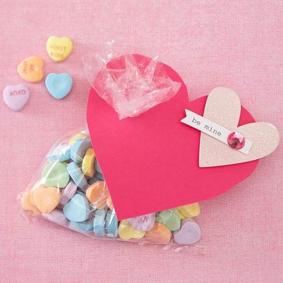 No need for the traditional packaging! We love this colorful conversation heart gift.
