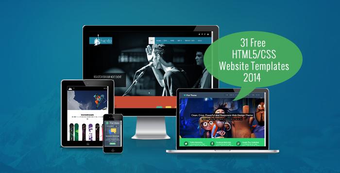 31 Free HTML5/CSS Website Templates 2014