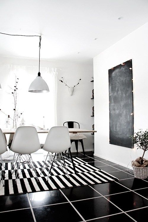 Black and white dining room also decor pinterest industrial kitchens rh
