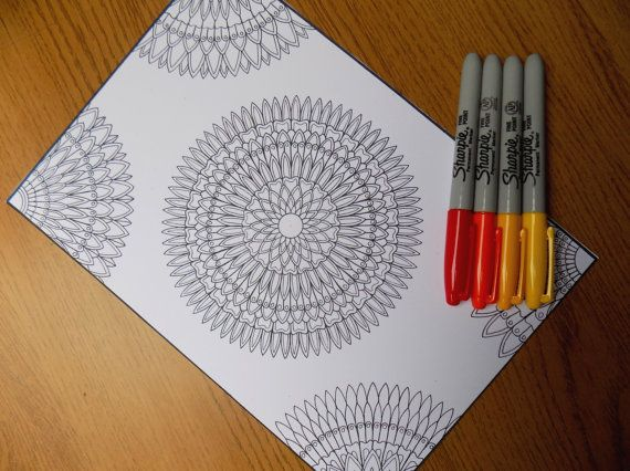 DOWNLOADABLE PDF mandala coloring page for by EasternSapphire