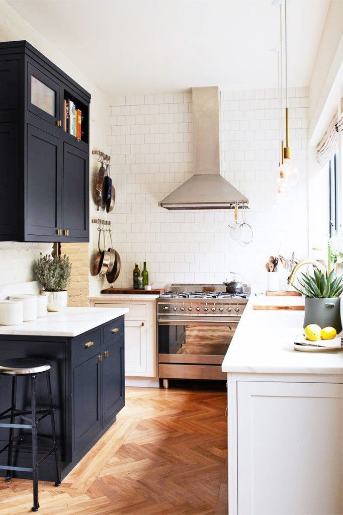 Classic White Galley Kitchen tour the chic brooklyn home of a one kings lane vp | galley