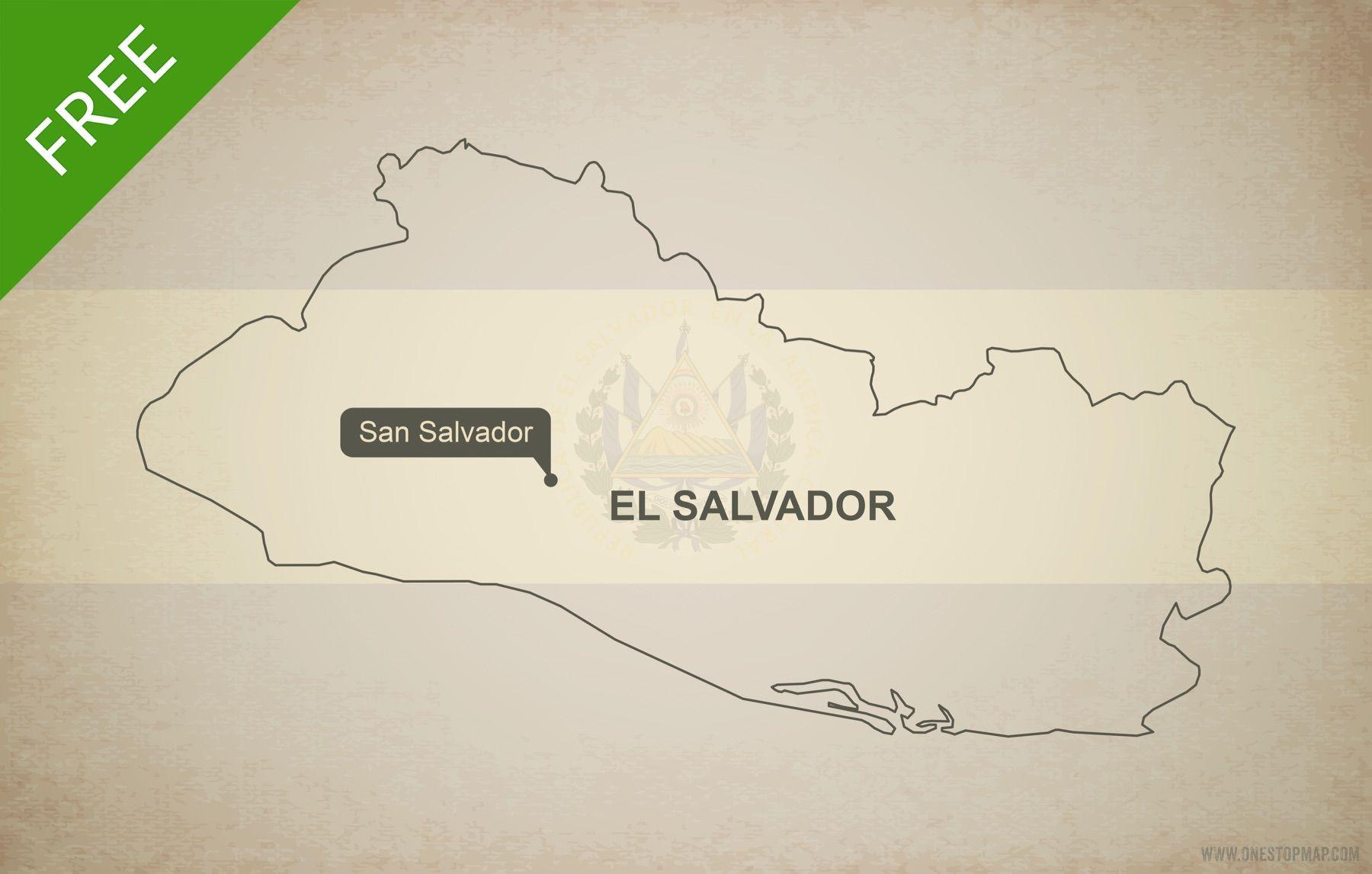 Free Vector Map Of El Salvador Outline