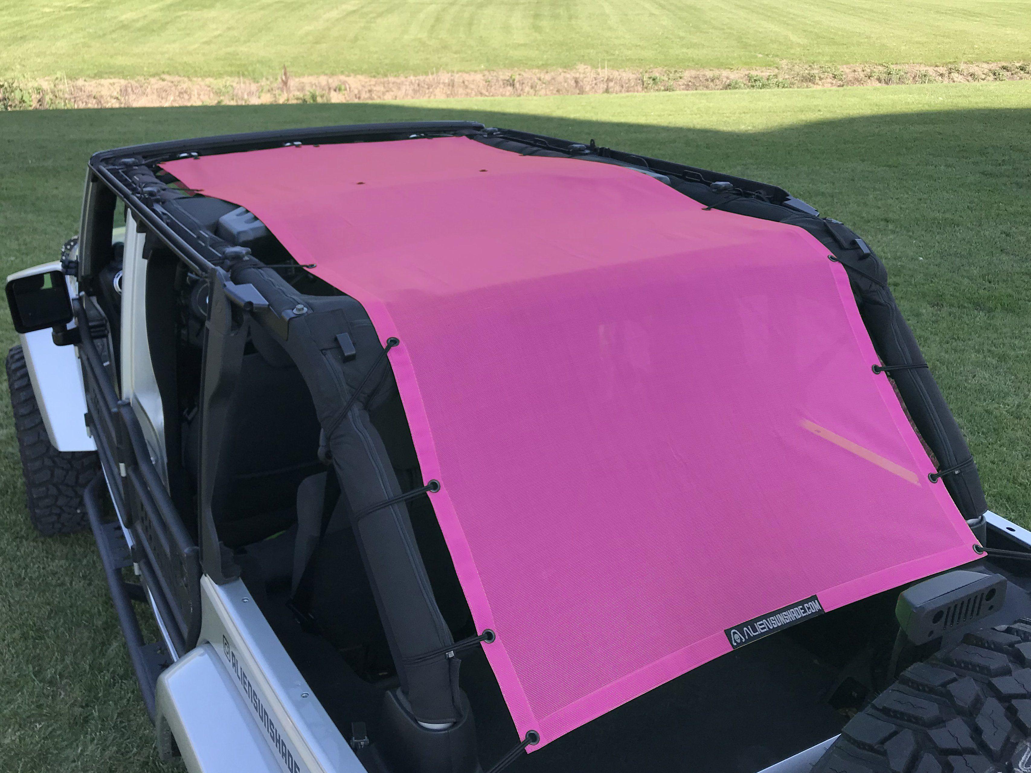 Alien sunshade jeep wrangler extra long full length mesh