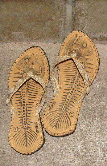 01983a42bd4db Fish bone slippers!