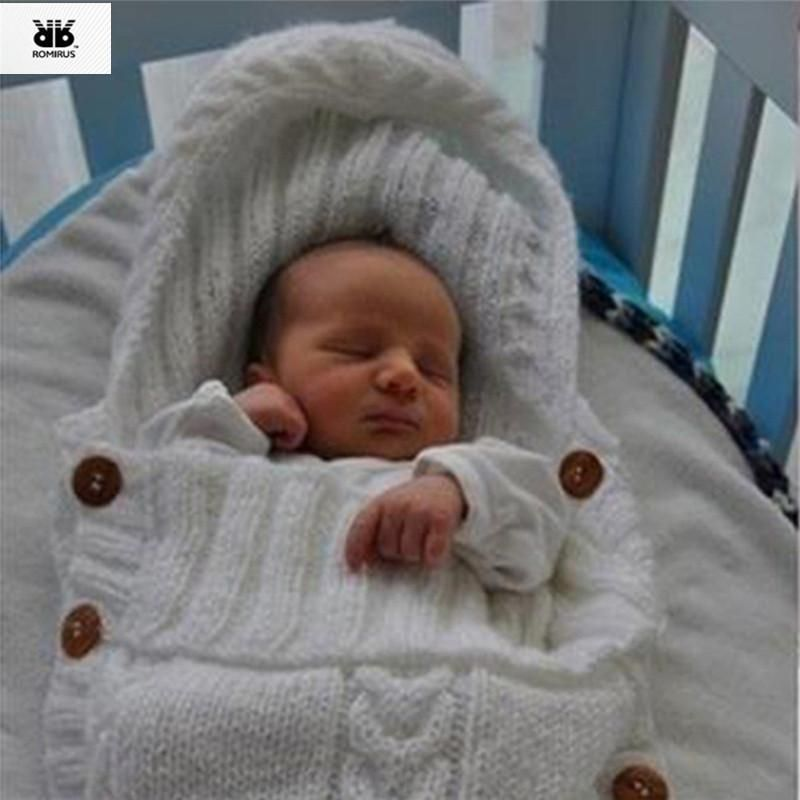 c92f3752149c Swaddle Wrap Baby Blanket Infant Knit Crochet Cotton Sleeping Bag ...