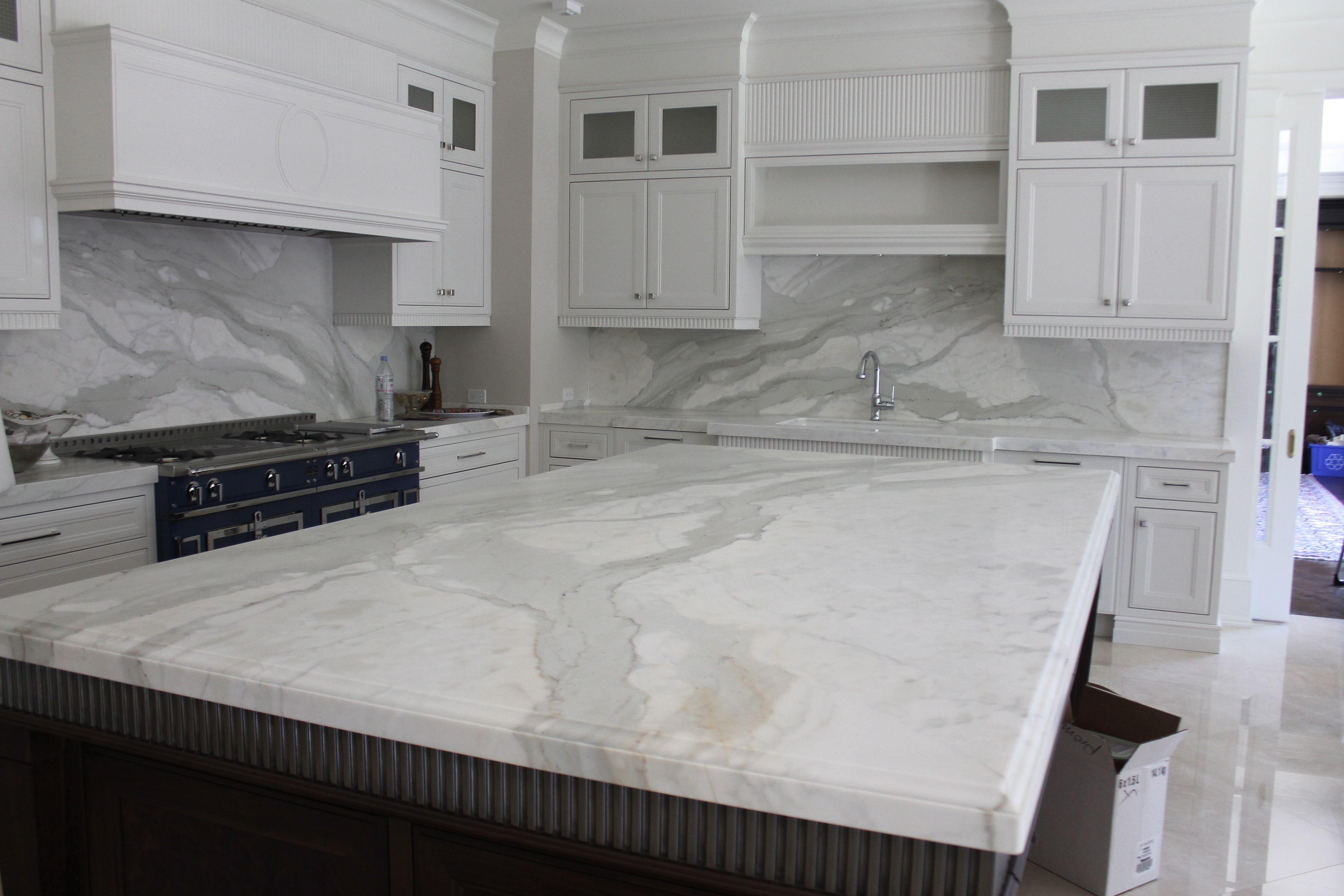 Calacatta Marble Kitchen Amazing Gray