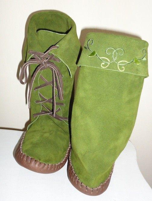 Bootsdeguisement féeChaussure Green Elf Forest Moss v0N8nmw