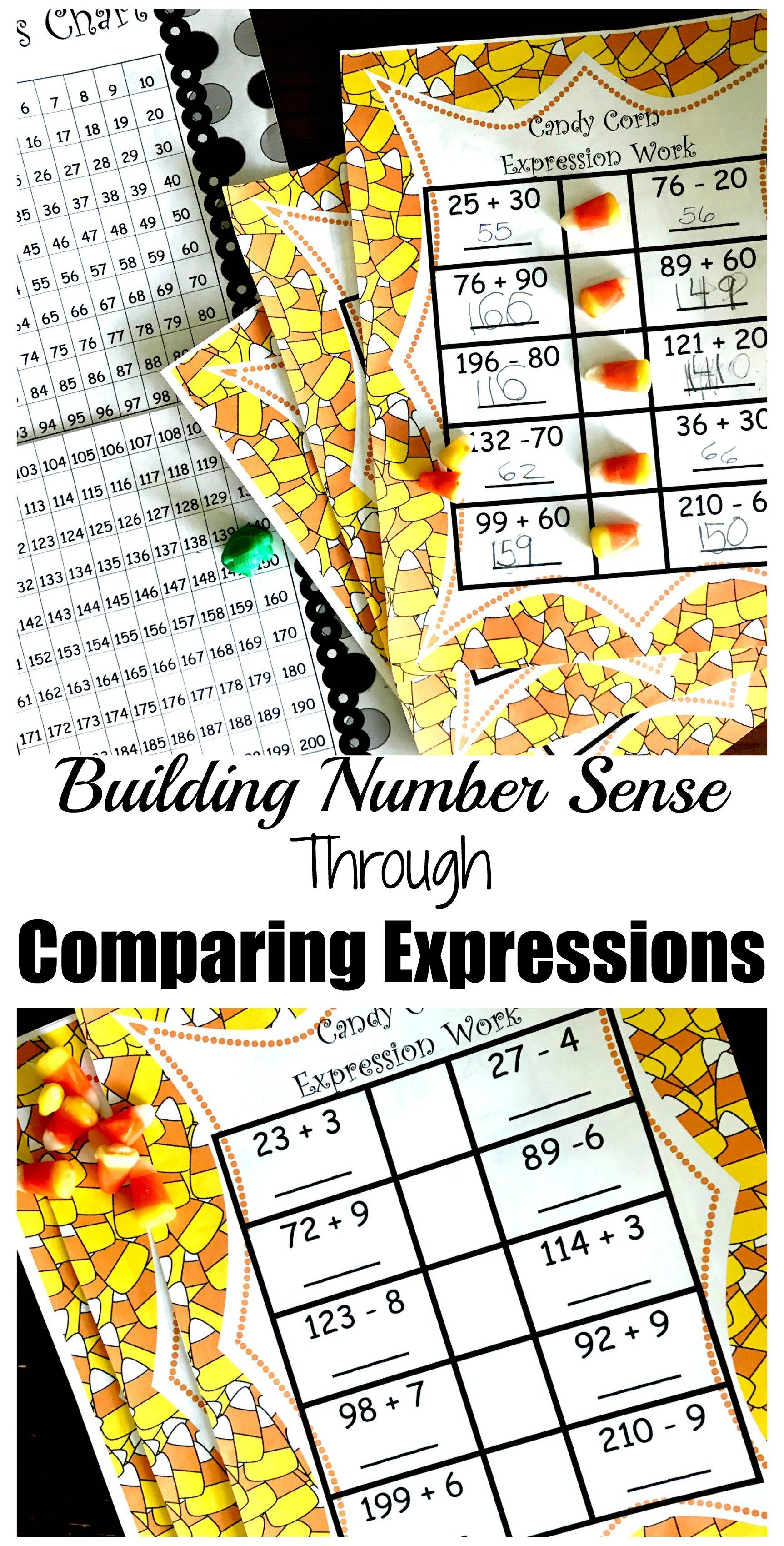 3 Comparing Expressions Worksheets For Practice In Solving