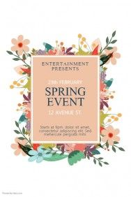 Spring Event Flyer Template  Fundraiser    Event Flyer