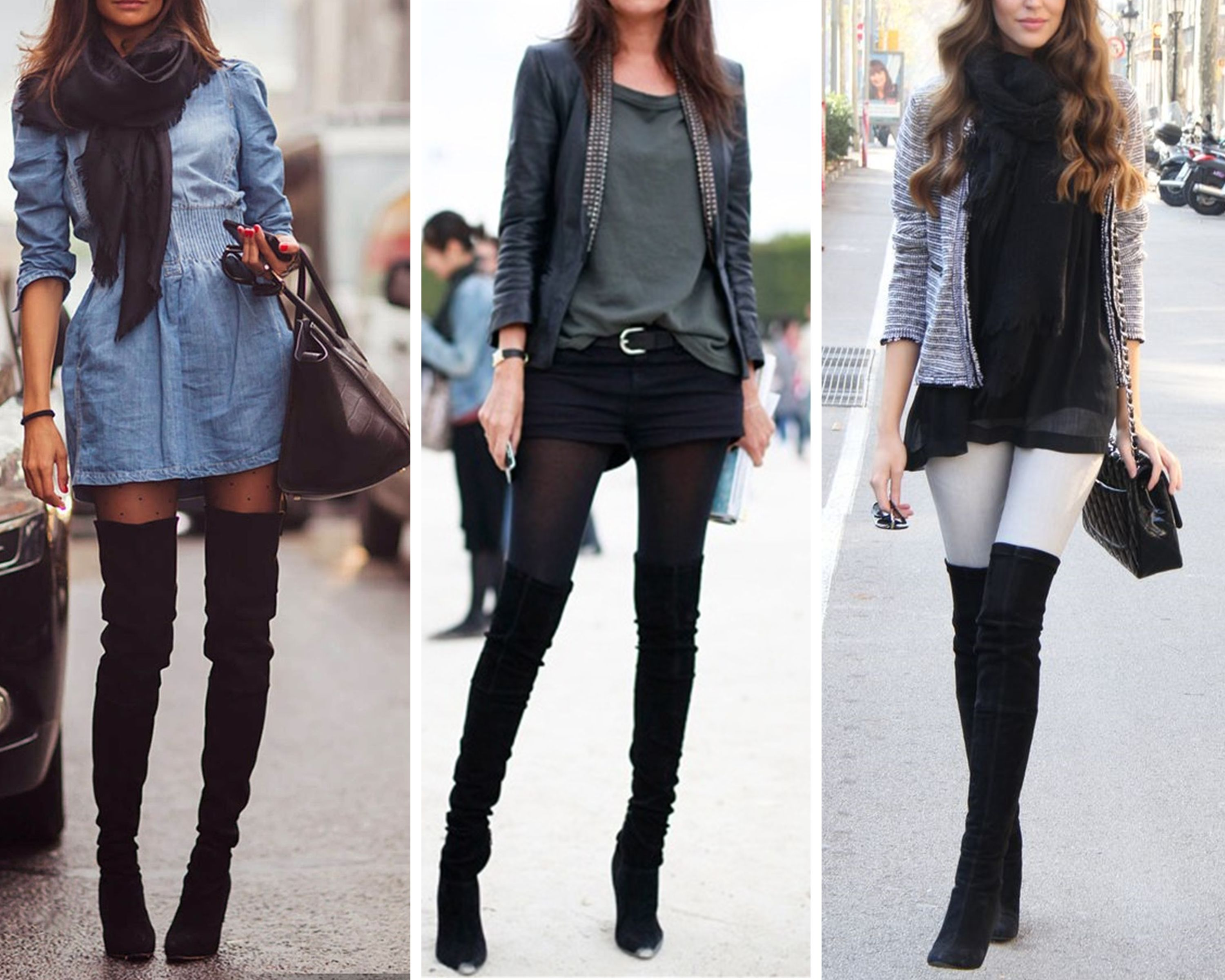 Ways to wear heeled 'over-the-knee' boots | Fashion | Pinterest ...
