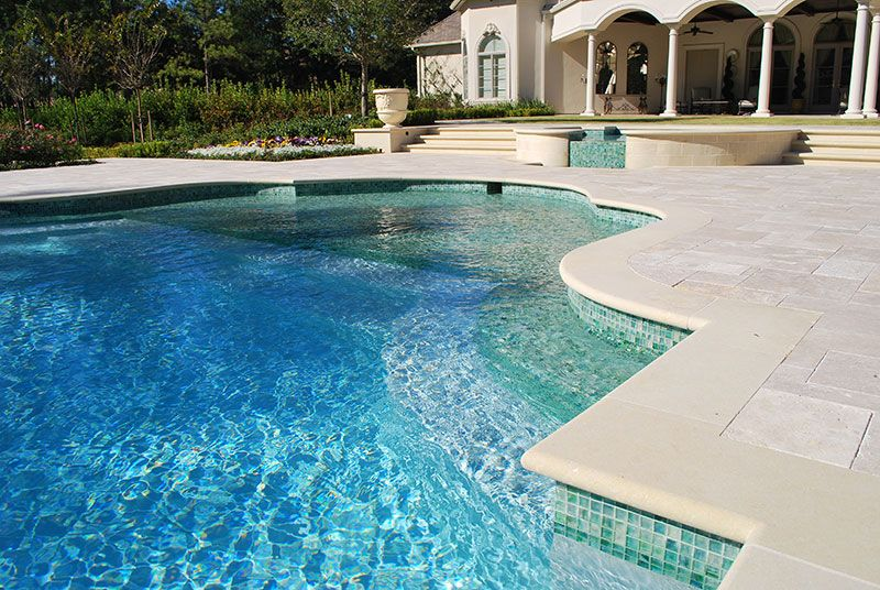 Pool tile mosaic for Latest swimming pool designs