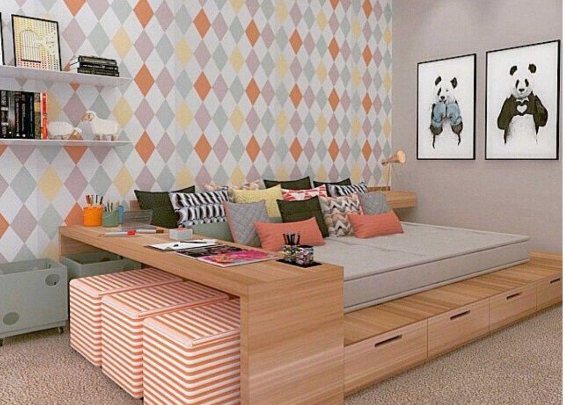 Innenarchitektur wohnzimmer für kleine wohnung idéias  dsng  pinterest  kinderzimmer schlafzimmer und bett